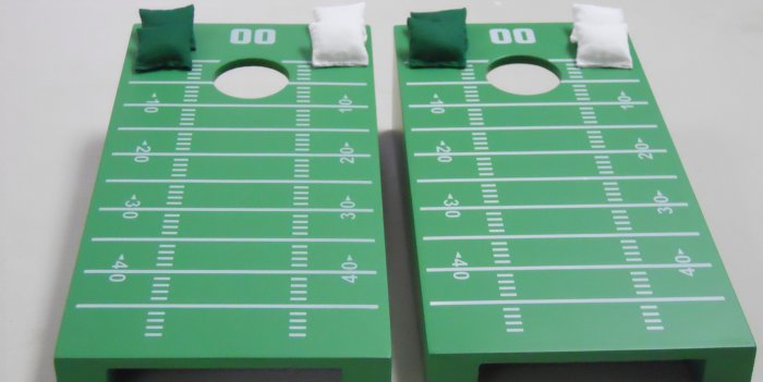 Football Field Tabletop Cornhole Set