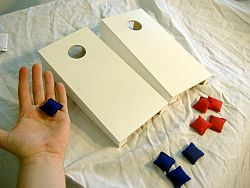 White Tabletop Cornhole Boards