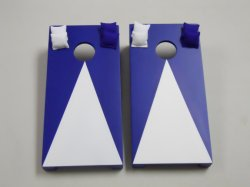 Navy Blue Pyramid Tabletop Cornhole Boards