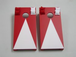Red Pyramid Tabletop Cornhole Boards